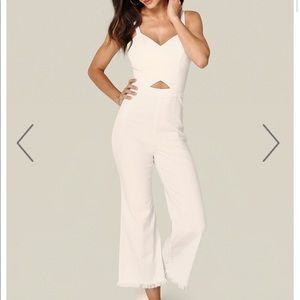 Bebe Raw Edge Culotte Jumpsuit